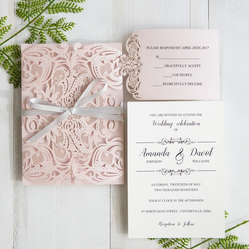 Cheap Wedding Invitations Laser Cut