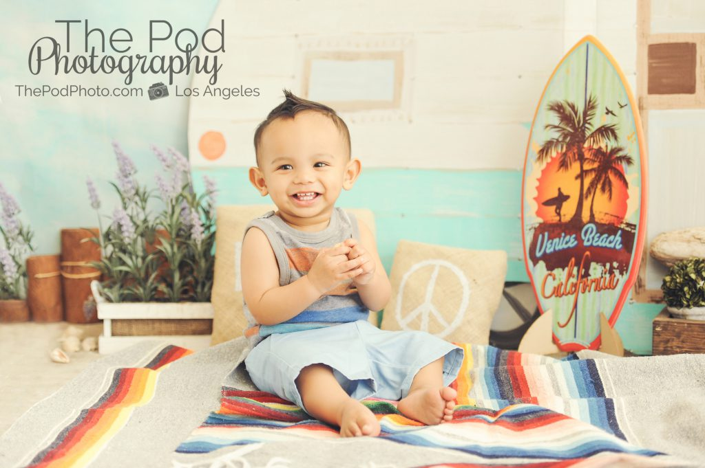 Santa Monica Beach Photographer Studio Baby Summer Set