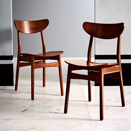 Classic Caf     Walnut Dining Chair   west elm