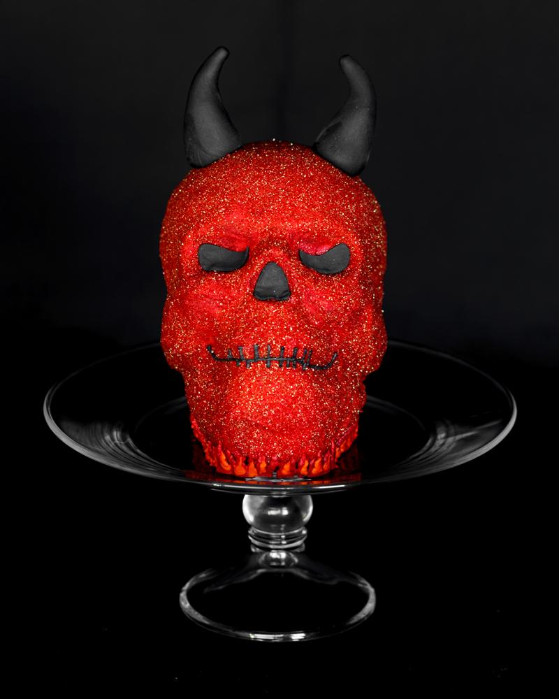 Red Glitter Devil Horns