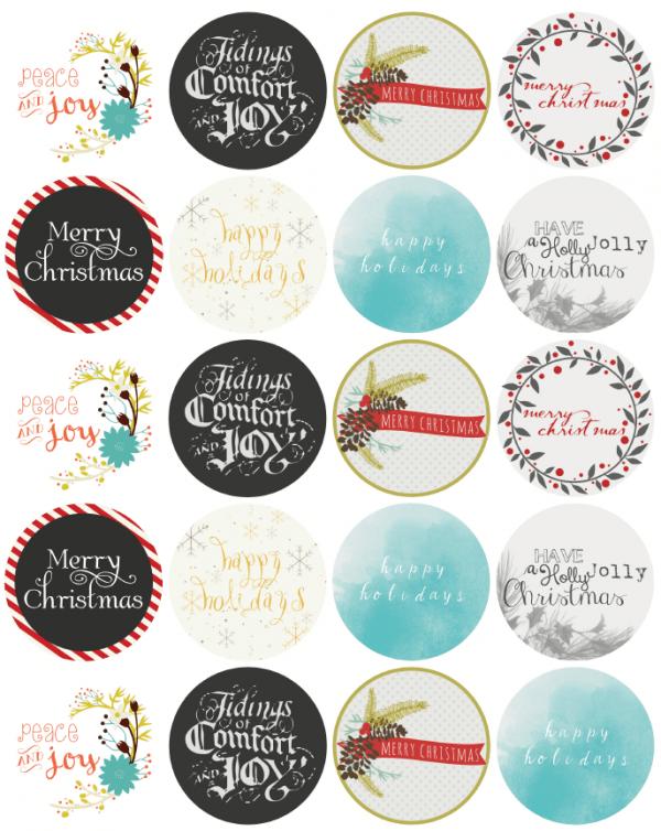 Blank Fillable Printable Christmas Labels