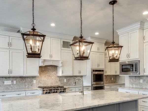 pendant lighting over kitchen island # 23