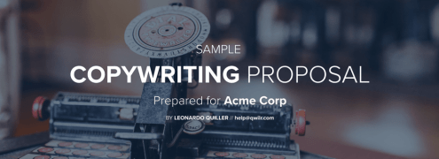 How to Write a Great Business Proposal    10 Awesome Templates  Copywriting proposal template by Qwilr