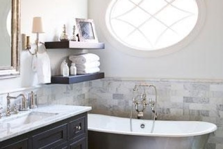 How to Choose Bathroom Paint Colors     postcard from paris As mentioned above  planning for fine task activities is important in a  bathroom  The color you select for your walls can have a great effect on the