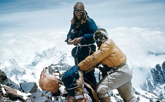 Sixty Years Ago  Edmund Hillary Reached the Top of the World  Hear     In 1953  Edmund Hillary and Tenzing Norgay became the first climbers reach the  peak of Mount Everest  Listen to Hillary recount the journey in    Interview