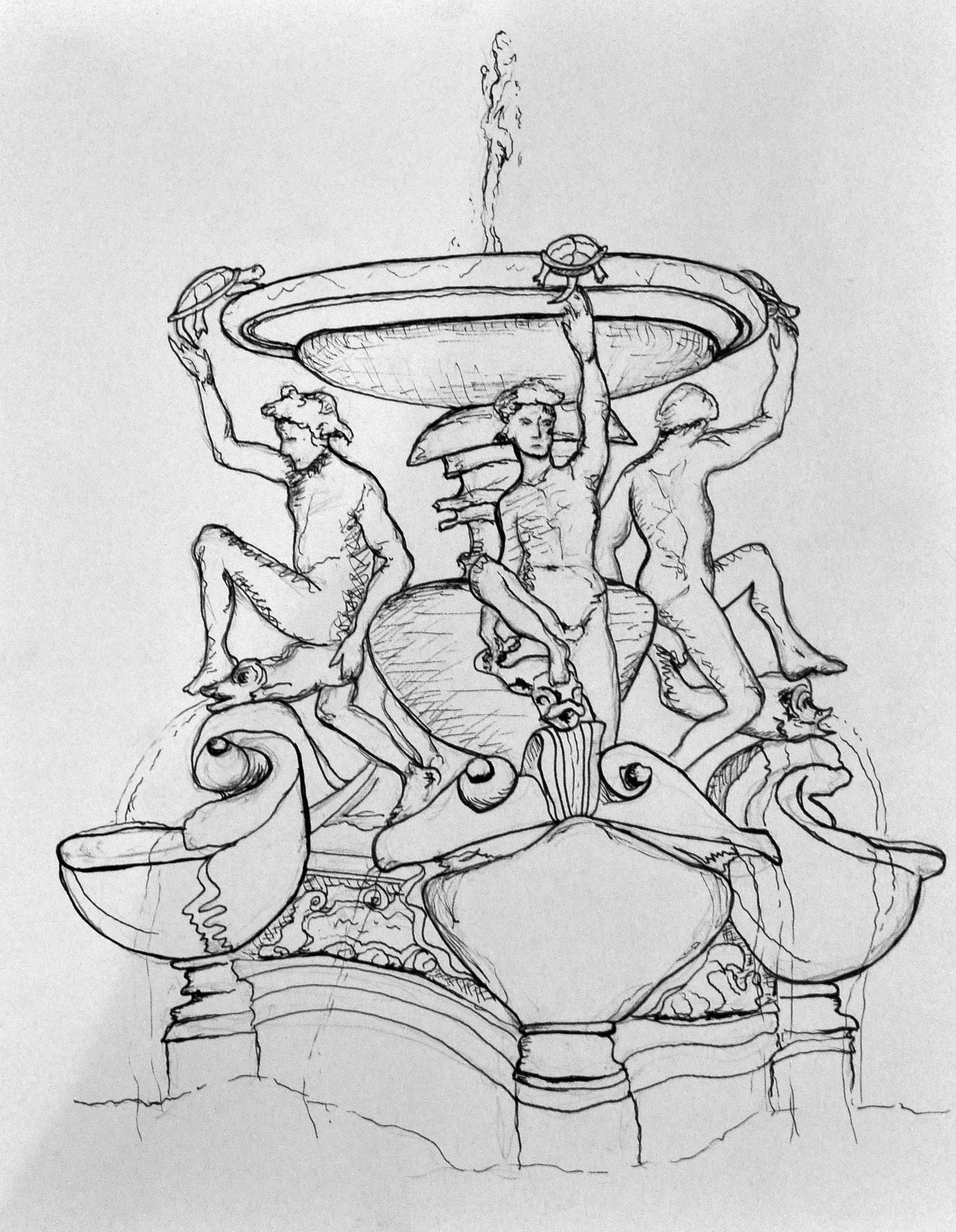 Sarah S Sketches Drawing Rome 2013