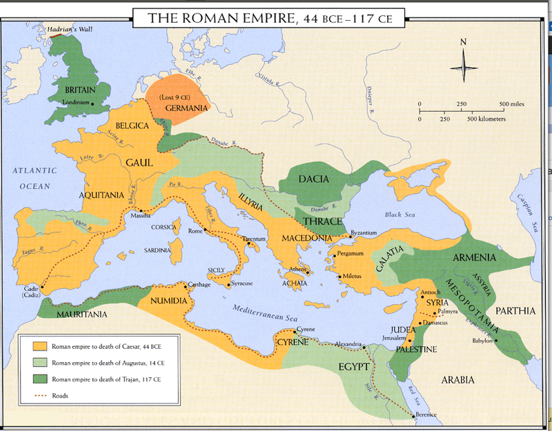 Greek And Roman Empires Map