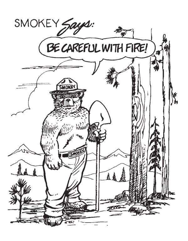 smokey the bear coloring pages # 14