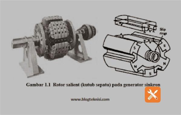 Contoh rotor sailent pada generator sinkron
