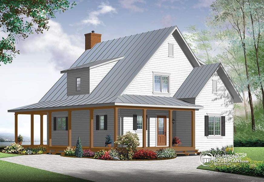 New  beautiful   small modern farmhouse cottage modern farmhouse house plan