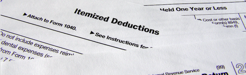 Irs Itemized Deductions 2012