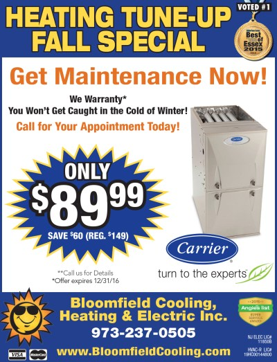 Heating Tune-Up Special   Bloomfield Cooling, Heating ...