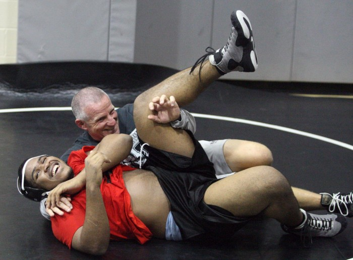 Black And White Background High School Wrestling
