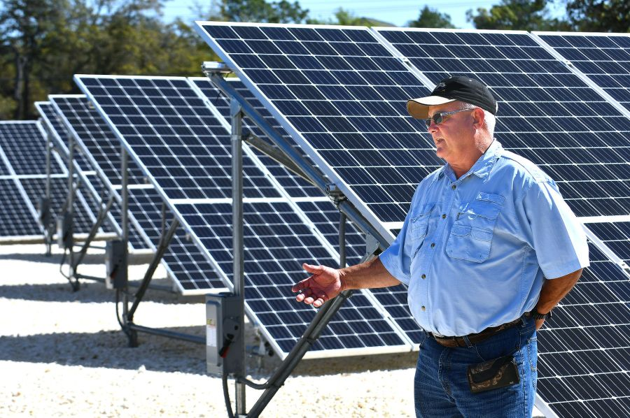Electric coop goes solar in big way   News   chronicleonline com Withlacoochee Electric solar array