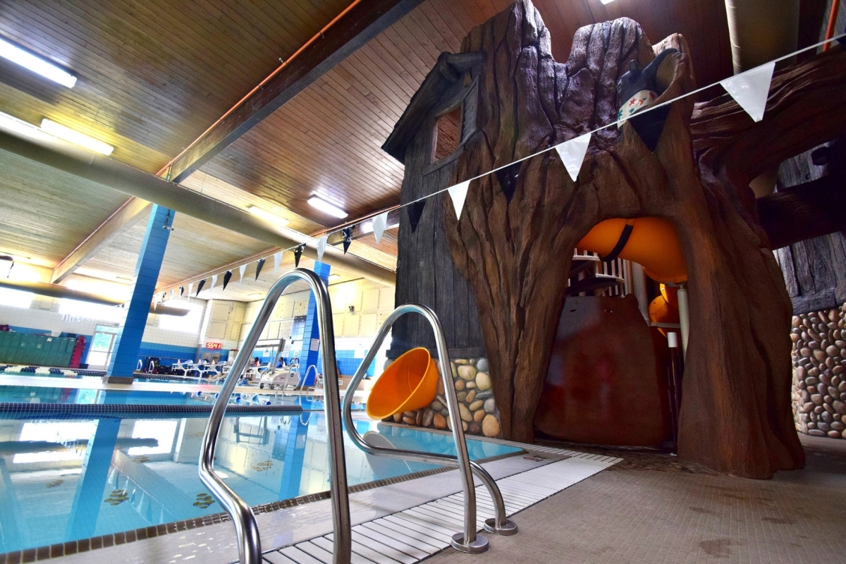 One Of A Kind New Douglas County Ymca Pool Open For Business | Spiral Staircase With Slide | Modern | 1930'S | Interior | Cool | Stainless Steel Spiral