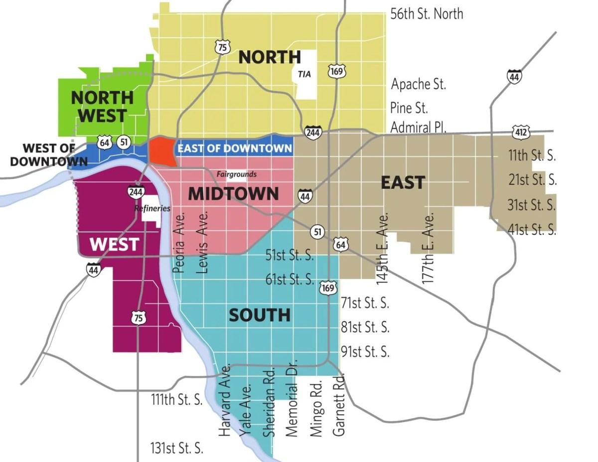 Tulsa County Zip Code Map