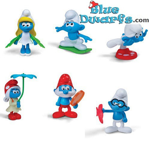2017 Burger King Toys Smurfs