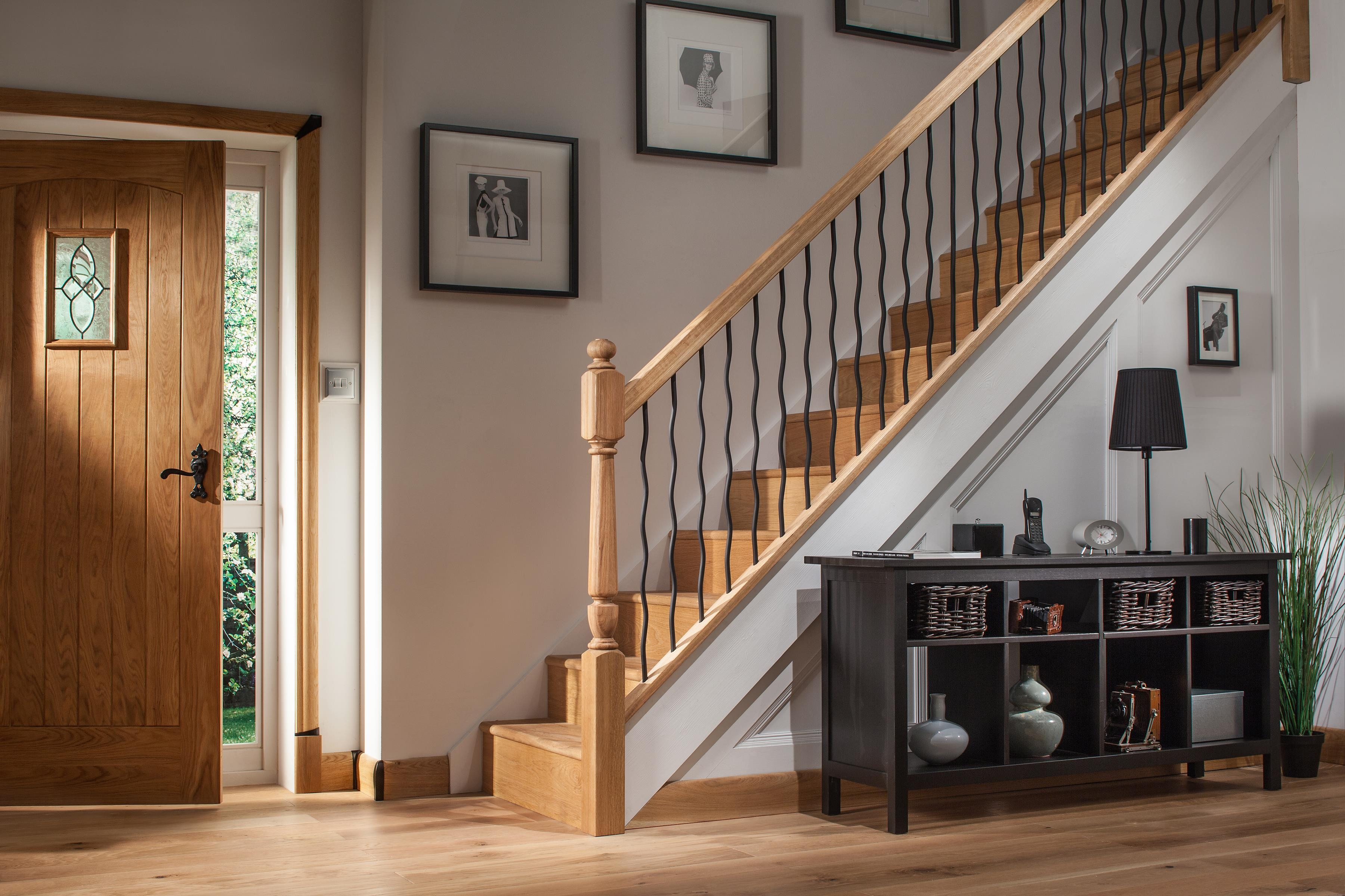 Black Iron Plain Stair Spindles Blueprint Joinery | Black Metal Spindles For Staircase