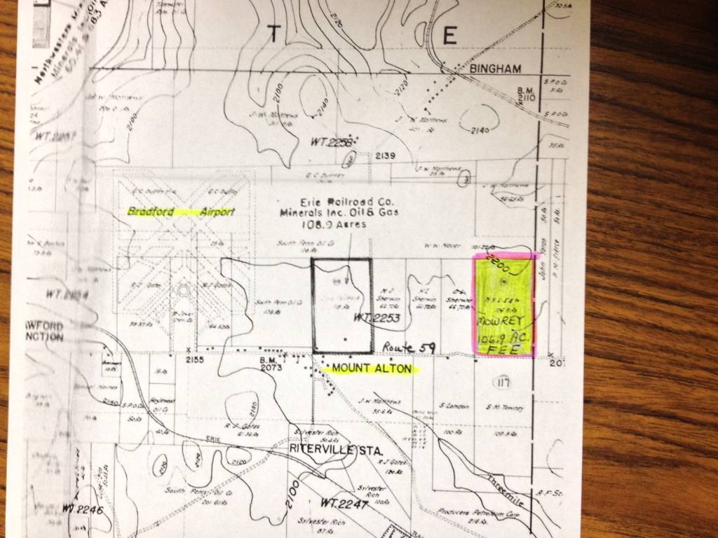 107 Acres  Lafayette Township  McKean County  PA  Mount Alton     Leased until August 1  2020