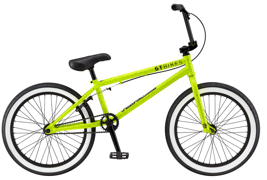 2017 Gt Performer 20 Gloss Neon Yellow Splat Bmx Com