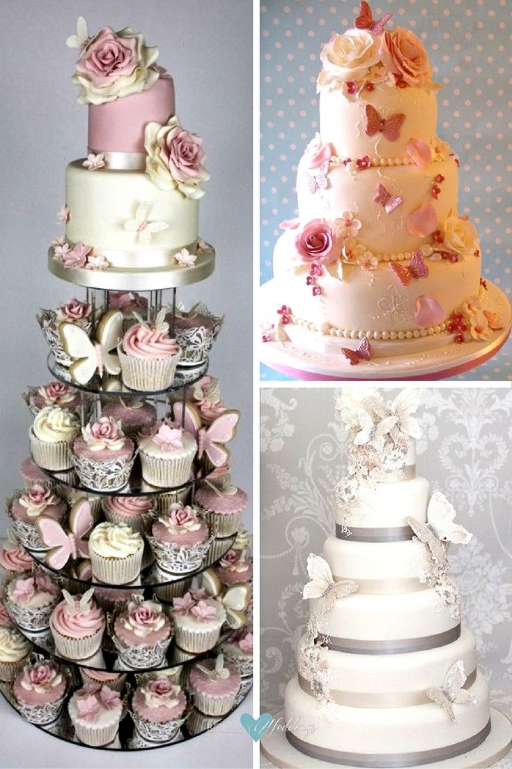 Butterfly Wedding Ideas That Will Make Your Heart Skip a Beat Butterfly wedding cakes