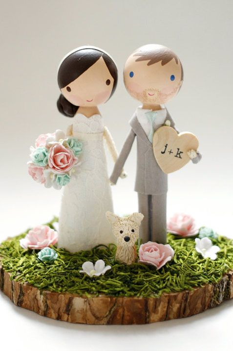 The Complete Guide to Wedding Cake Toppers  Unique Ideas   Tips These are a far cry from the plastic bride and groom figurines of decades