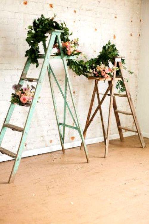 Top Wooden Ladder Wedding Decor Ideas To Diys Fast Chic