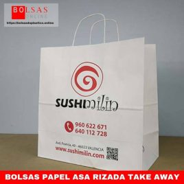 Bolsas papel asa rizada take away
