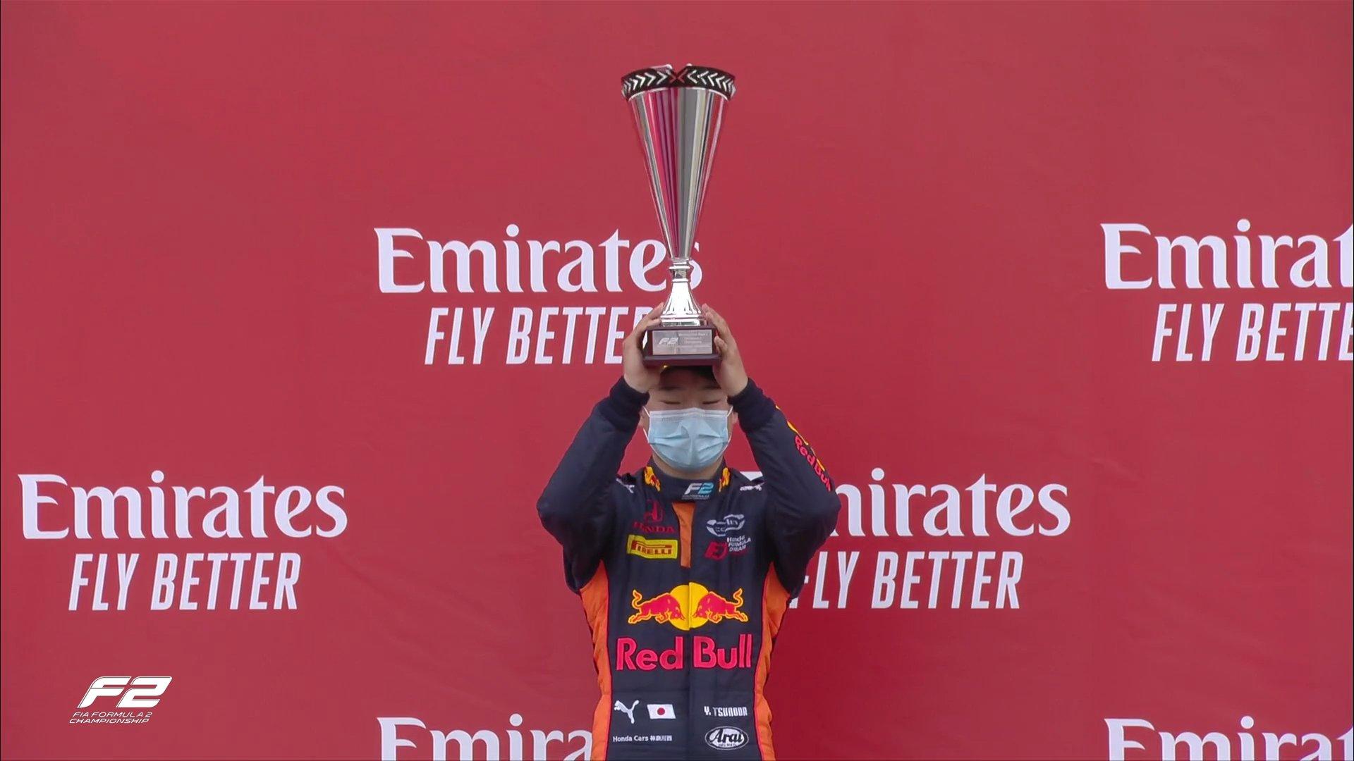 Цунода выиграл вторую гонку Формулы-2 в Великобритании