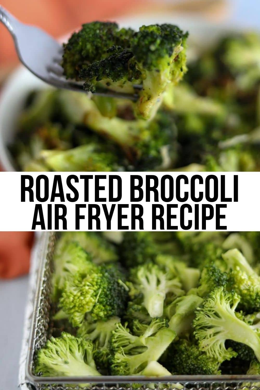 forkful of roasted broccoli