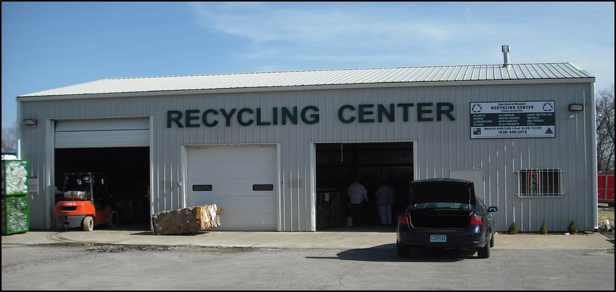 Recycling Center   Boonslick Regional Planning Commission East Central Missouri Recycling Center