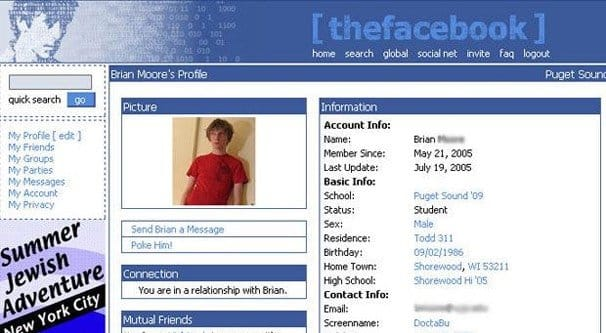 Old Account Find Page Facebook