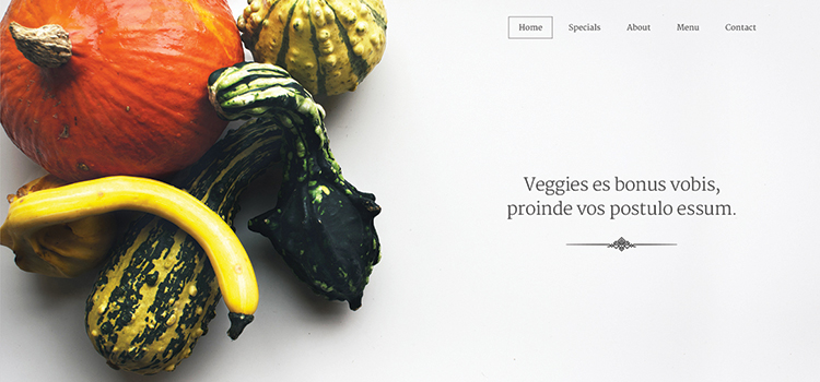 Veggi – One Page Restaurant Template