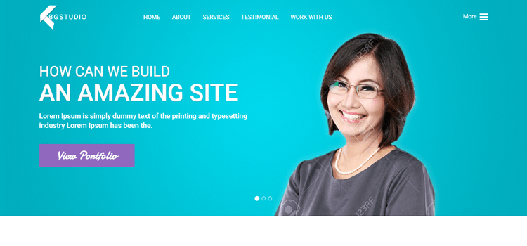 BGStudio Free HTML5 Landing Page Template