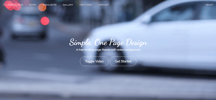Landing Zero – Free Bootstrap HTML Onepage Template