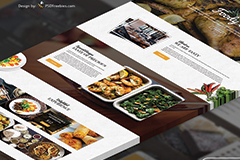 Food and Restaurant Free One page Bootstrap Template