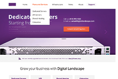 Hosting – One Page Responsive HTML Template