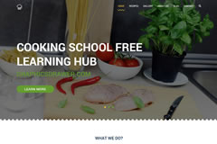 Cooking School – FREE HTML5 Page Template