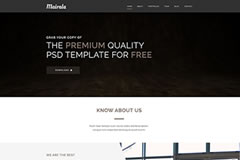 Mairala – One Page Corporate Agency Template