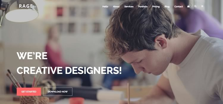 Rage – Digital Agency Free Bootstrap Multipurpose Template
