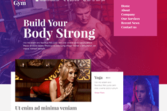 Fitness – Free HTML5 Bootstrap Page Template