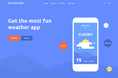 Weather Apps – Landing Page Free Bootstrap Temmplate