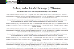 Bootstrap Navbar Animated Hamburger (LESS)