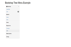Bootstrap Tree Menu Example