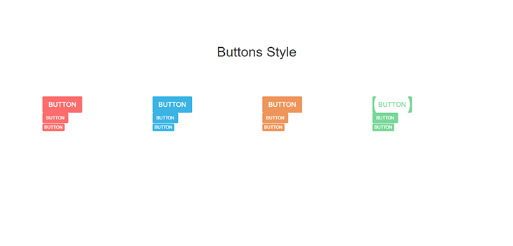 Bootstrap Responsive Hover Effect Buttons