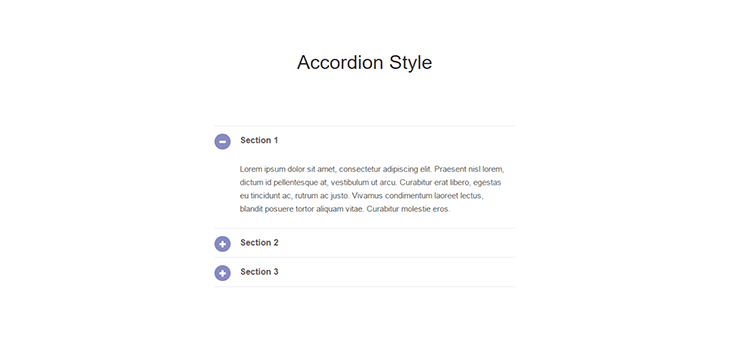 Responsive Bootstrap Accordion Style