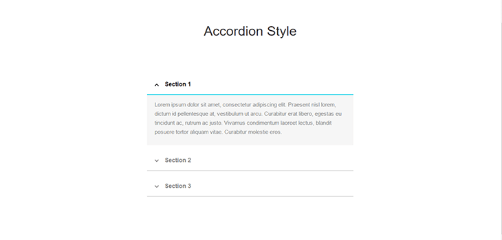 Bootstrap Accordion Style