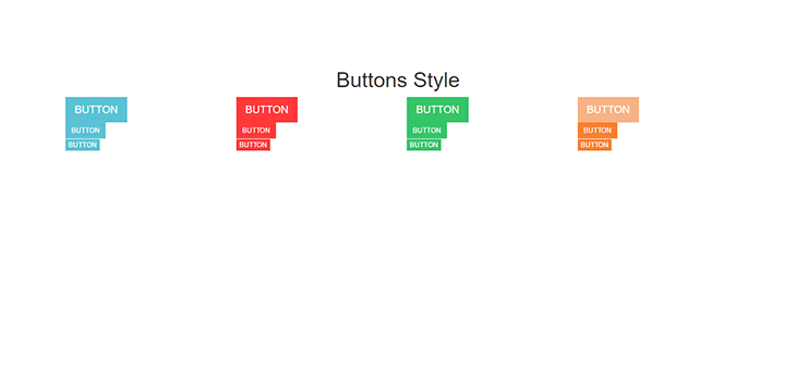 Bootstrap Responsive Color Full buttons with Hover Effect