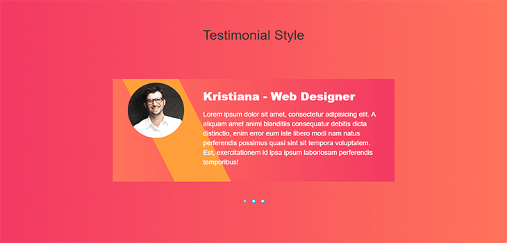 Bootstrap Testimonial Slider with hover effect