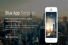 Blue App – Free One page Responsive HTML5 parallax Bootstrap Template
